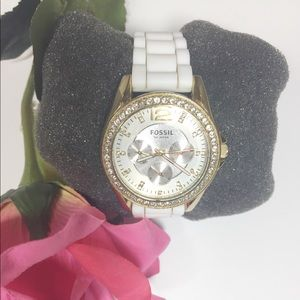 Fossil Women's Silicone Watch